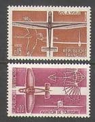 France 1962 Plane  /  Glider  /  Aviation  /  Bird 2v set (n23245)