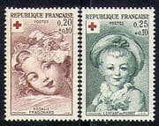 France 1962 Red Cross  /  Medical  /  Children  /  Health 2v n29910