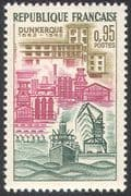 France 1962 Ship/ Cranes/ Dunkirk/ Buildings/ Transport/ Industry 1v (n24507)
