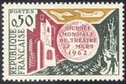 France 1962 World Theatre Day/ Acting/ Actors/ Buildings/ People 1v (n43612)