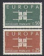 France 1963 Europa  /  Co-operation Design  /  Animation 2v set (n35066)