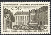 France 1963 Horses/ Mail/ Stage-coach/ Bus/ Postal Transport/ Buildings/ Architetcure 1v (n23538)