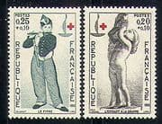 France 1963 Red Cross  /  Medical  /  Health  /  Art 2v set n30437