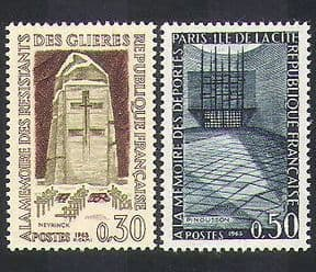 France 1963 Resistance  /  Army  /  Monuments  /  Memorials  /  WWII  /  People 2v set (n36938)
