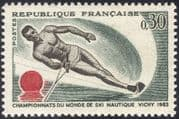 France 1963 Sports/ Water Skiing Championships/ Animation 1v (n43600)