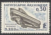 France 1963 Submarine  /  Boat  /  Nautical  /  Diving 1v (n23277)