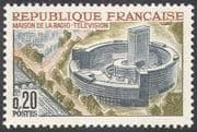 France 1963 Television/ Radio/ Communications/ Buildings/ Architecture 1v (n41918)