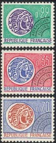 France 1964 Coins/ Money/ Commerce/ Pre-cancel/ Pre-cancelled/Precancelled/ History 3v set (n43385)