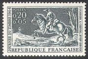 France 1964 Horse  /  Courier  /  Mail  /  Stamp Day  /  Horses  /  Animals  /  Nature 1v (n23439)