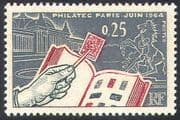 """France 1964 """"PHILATELIC 1964""""/ Exhibition/ S-on-S/ StampEx/ Building/ Horse 1v n41790"""