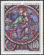 France 1964 Stained Glass/ Art/ Window/ Notre Dame Cathedral 800th Anniversary/ Craft 1v (n43445)