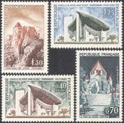 France 1964 Tourism/ Church/ Chateau/ Tower/ Buildings/ Architecture/ Heritage/ History 4v set (n41924)
