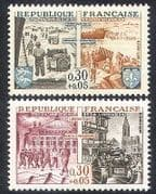 France 1964 WWII  /  Jeep  /  Tank  /  Military  /  War  /  Boat  /  Liberation 2v set (n30896)