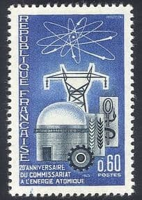 France 1965 Atomic Energy  /  Nuclear Power  /  Electricity  /  Industry  /  Commerce 1v n33559