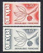 France 1965 Europa  /  Animation  /  Leaf  /  Fruit  /  Sprig Design  /  Animation 2v set (n36950)