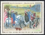 France 1965 Horses/ Falcons/ Birds/ Nature/ Art/ Dogs/ Paintings/ Hunting 1v (n28777)