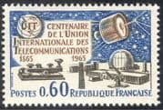 France 1965 ITU 100th Anniversary/ Communications Satellite/ Space/ Morse Key/ Telecomms 1v (n23479)