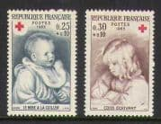 France 1965 Red Cross  /  Children 2v set (n20397)