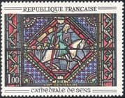 France 1965 Stained Glass/ Art/ Window/ Sens Cathedral/ Crafts/ Horses/ Transport 1v (n43447)