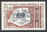 France 1966 Paris Pneumatic Post Centenary  /  Mail  /  Maps  /  Buildings 1v (n40612)