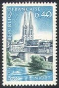 France 1966 Philatelic Congress/ Philately/ Niort/ Cathedral/ Buildings/ Architecture/ Philately 1v (n41784)
