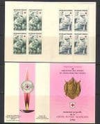 France 1966 Red Cross  /  Medical  /  Military 8v bklt (n25839)