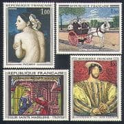 France 1967 Art  /  Horse  /  Dog  /  Nude  /  Royalty  /  Paintings  /  Artists  /  Glass 4v set (n32994)