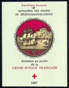 France 1967 Red Cross  /  Medical  /  Musicians 8v bklt  n29184