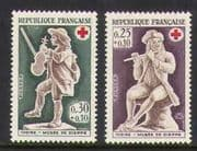 France 1967 Red Cross  /  Musicians 2v set (n20399)