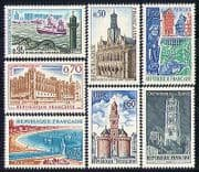 France 1967 Tourism  /  Lighthouses  /  Buildings 7v set n30580