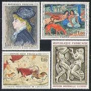 France 1968 Art  /  Paintings  /  Dog  /  Rock  /  Carving 4v (n31776)