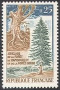 France 1968 Forest/ Deer/ Forestry/ Trees/ Plants/ Nature/ Environment/ Animals 1v (n41902)