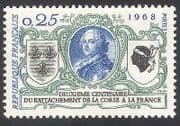 France 1968 King Louis XV  /  Corsica  /  Politics  /  Royalty  /  Coat-of-Arms 1v (n40679)