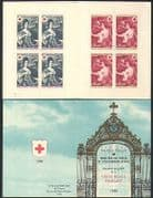 France 1968 Red Cross  /  Medical  /  Health  /  Welfare  /  Spring  /  Autumn  /  Women 8v bklt b4479g