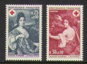France 1968 Red Cross  /  Spring  /  Autumn 2v set (n20400)