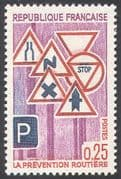 France 1968 Road Safety  /  Signs  /  Motoring/ Transport 1v (n23875)