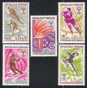 France 1968 Sports  /  Olympics  /  Ice Hockey  /  Skiing 5v n31622