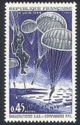 France 1969 Parachutes WWII/ Boats/ D-Day/ D-Day Landings/ SAS/ Commandos 1v  (n23241)