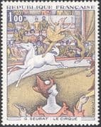 France 1969 Seurat/ Artists/ Art/ Horse/ Circus/ Clown/ Animals/ Paintings 1v (n23993)