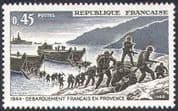 France 1969 WWII/ Military/ War/ Army/ Boats/ Landing Craft/ D-Day Landings/ Soldiers 1v (n30733)