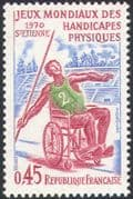 France 1970 Disabled Sports/ World Handicapped Games/ Wheelchair Javelin 1v (n30752)