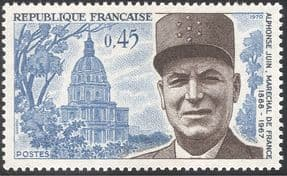 France 1970 Marshal Juin/ Military/ People/ Army/ Soldiers/ Buildings/ Architecture 1v (n43544)