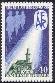 France 1971 AFR/ Rural Family Aid/ Welfare/ Church/ Clock Tower/ Buildings/ Architecture 1v (n43389)