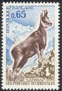 France 1971 Chamois/ National Park/ Deer/ Animals/ Nature/ Wildlife/ Conservation/ Environment 1v (n43236)