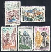 France 1971 Tourism  /  Buildings  /  Architecture  /  Fort  /  Church  /  Fountain  /  Views 5v n33011