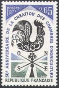 France 1973 Cockerel/ Birds/ Chambers of Agriculture 50th Anniversary/ Farming  1v (n23448)
