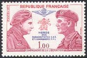 France 1973 Commando/ Parachutist/ Soldiers/ Military/ Army/ WWII/ Heroes 1v (n29182)