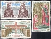 France 1973 Napoleon/ Coronation/ Civil Code/ Law/ Buildings/ Architecture/ Industry/ History/ Heritage 3v set (n43231)