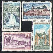 France 1973 Tourism  /  Waterfall  /  Buildings 4v set (n31592)
