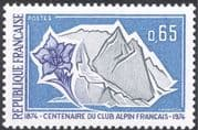 France 1974 Alpine Club/ Mountain Climbing/ Gentian/ Sports/ Flowers 1v (n43854)